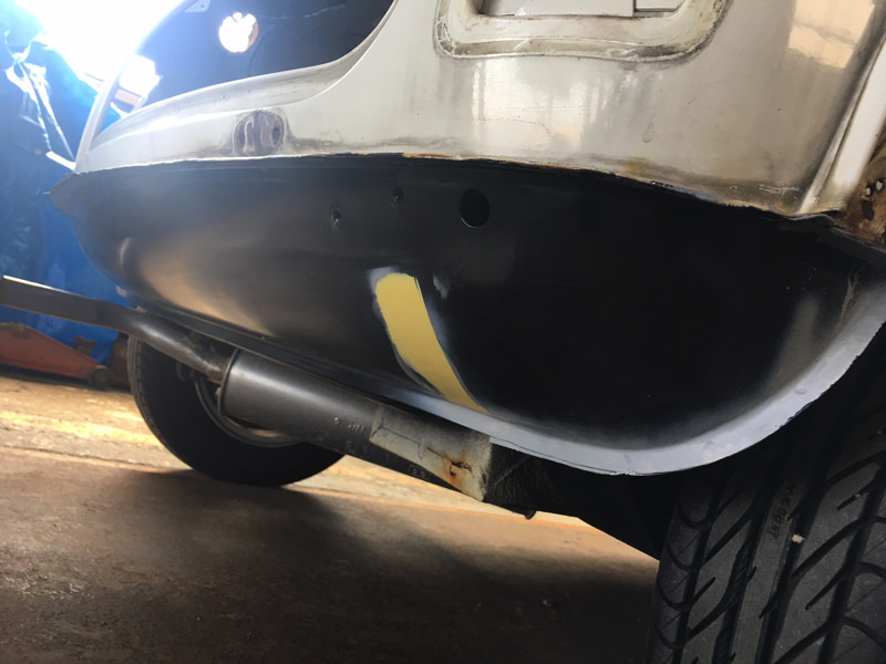 ローバーミニの全塗装_板金完了_2